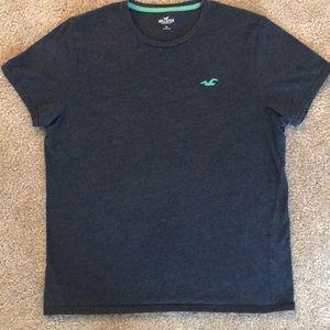 Hollister T-shirt in Dark Navy (XL)